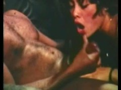 Kinky dude fucking nice wife in her mouth in amazing retro husband and wild sex film