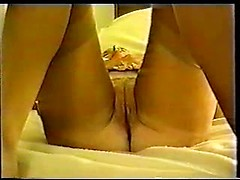 Kinky slutty wife Nina takes two black dicks in her pussy and ass